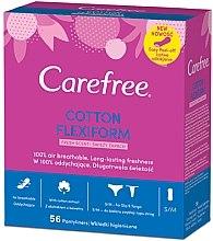 Духи, Парфюмерия, косметика Гигиенические ежедневные гибкие прокладки, 56шт - Carefree Cotton FlexiForm