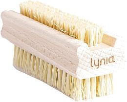 Parfumuri și produse cosmetice Perie din lemn pentru mâini și unghii - Lynia