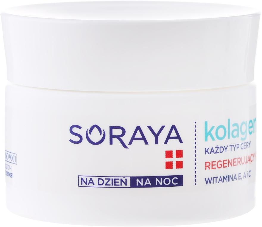 Cremă regeneratoare cu textură ușoară antirid - Soraya Collagen + Elastin Regenerating Semi-Rich Day and Night Cream — Imagine N2