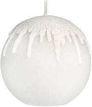 """Parfumuri și produse cosmetice Lumânare decorativă """"Gray icicles"""", bilă, 10 cm - Artman Christmas"""