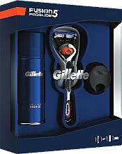 Parfumuri și produse cosmetice Set - Gillette Fusion Proglide (shave/gel/75ml + razor + stand)
