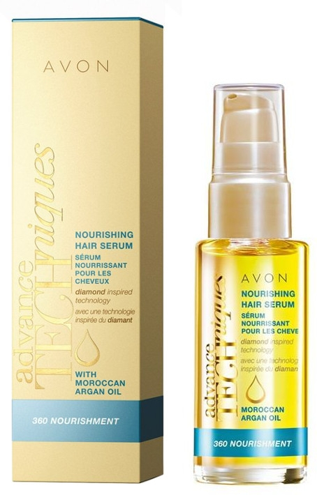 Ser de păr nutritiv cu ulei de argan marocan - Avon Advance Techniques 360 Nourish Moroccan Argan Oil Leave-In Treatment