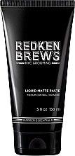 Parfumuri și produse cosmetice Pastă modelatoare de păr - Redken Brews Liquid Matte Paste