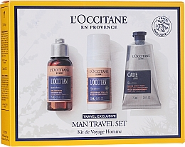 Parfumuri și produse cosmetice Set  - L'Occitane Man Travel Set (sh/gel/75ml + deo/50ml + after/shave/balm/75ml)