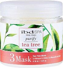 Parfumuri și produse cosmetice Mască de curățare pentru picioare cu extract de arbore de ceai - IBD Tea Tree Purify Pedi Spa Mask