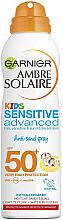 """Parfumuri și produse cosmetice Spray uscat cu protecție solară pentru copii """"Anti-Sand""""  - Garnier Ambre Solaire Kids Sensitive Anti-Sand Sun Cream Spray SPF50+"""