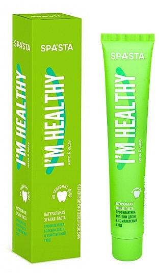 """Pastă naturală de dinți """"Prevenirea bolilor gingivale și îngrijirea complexă"""" - Spasta I Am Healthy Toothpaste"""