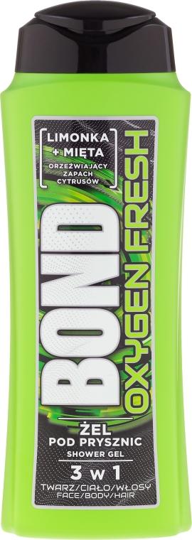 Gel de duș 3 în 1 - Bond Oxygen Fresh Shower Gel