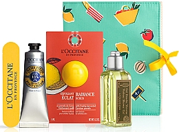 Parfumuri și produse cosmetice Set - L'Occitane Verbena (sh/gel/75ml + scrub/6ml + foot/cr/30ml + nail/file)