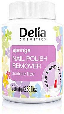 Lichid pentru îndepărtarea lacului cu un burete - Delia Sponge Nail Polish Remover Acetone Free