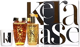 Духи, Парфюмерия, косметика Набор - Kerastase Elixir Ultime Luxury Gift Set (shmp/250ml + h/oil/100ml + candle/100g)