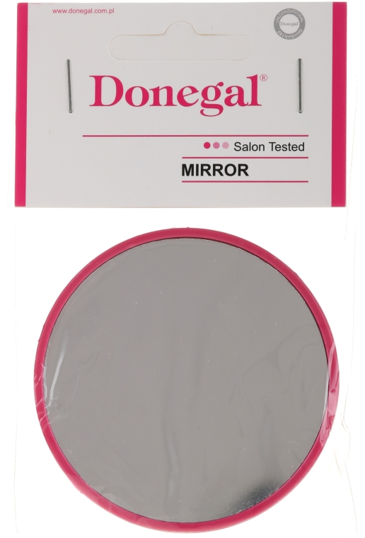 Компактное круглое зеркальце, 9511, 7 см, малиновое - Donegal — фото N1