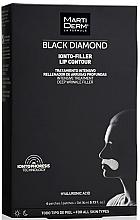 Parfumuri și produse cosmetice Patch-uri pentru zona din jurul ochilor - MartiDerm Black Diamond Ionto-Filler Lip Contour