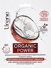 Parfumuri și produse cosmetice Mască de față - Lirene Organic Power Anti-Ageing Regenerating Sheet Mask