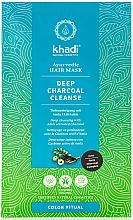 "Parfumuri și produse cosmetice Mască de păr ""Amla"" - Khadi Deep Charcoal Cleanse Haar Maske"
