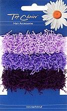 Parfumuri și produse cosmetice Elastice de păr 3 buc., violete - Top Choice
