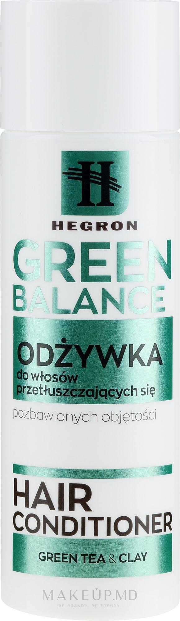 Balsam pentru păr gras - Hegron Green Balance Hair Conditioner — Imagine 180 ml