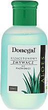 Parfumuri și produse cosmetice Soluție cu aloe pentru îndepărtarea ojei - Donegal Nail Polish Remover