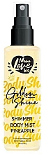 "Parfumuri și produse cosmetice Mist pentru corp ""Ananas"" - MonoLove Bio Shimmer Body Mist Pineapple Golden Shine"