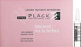 Parfumuri și produse cosmetice Loțiune în fiole împotriva mătreții - Black Professional Line Anti-Dandruff Hair Lotion