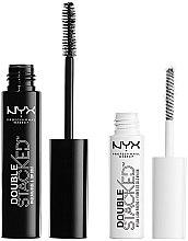 Parfumuri și produse cosmetice Set pentru gene (mascara 10 ml + base 0,9 ml) - NYX Professional Makeup Double Stacked Mascara (01-Black)