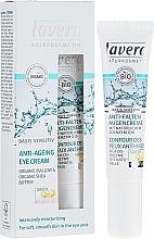 Parfumuri și produse cosmetice Cremă antirid contur ochi Q10 - Lavera Basis Sensitiv Anti-Ageing Eye Cream Q10