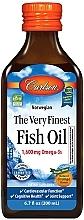 """Parfumuri și produse cosmetice Supliment alimentar """"Ulei de pește"""", portocale - Carlson Labs The Very Finest Fish Oil"""