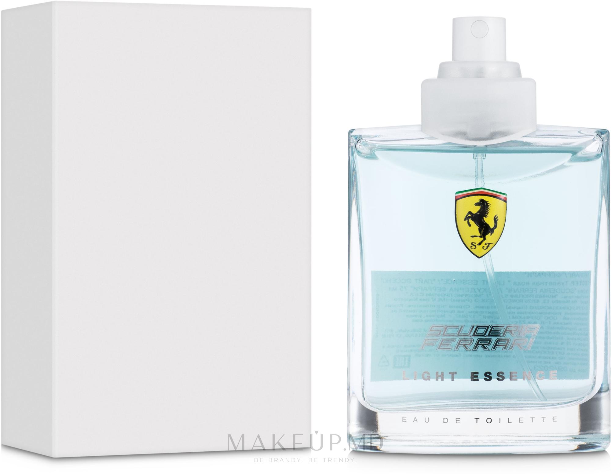 Ferrari Scuderia Light Essence - Apă de toaletă (tester fără capac) — Imagine 75 ml