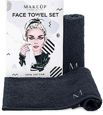 """Set de prosoape de față, pentru călătorii, negre """"MakeTravel"""" - Makeup Face Towel Set"""