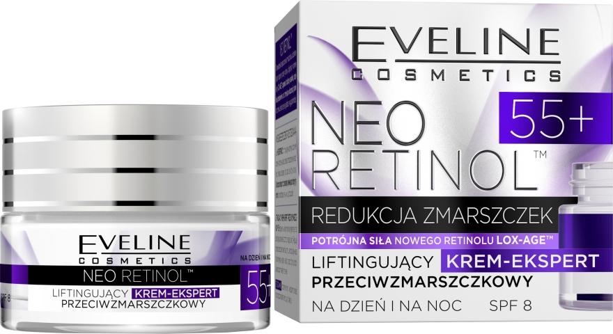 """Cremă Lifting împotriva ridurilor """"De întinerire"""" - Eveline Cosmetics Neo Retinol 55+ — Imagine N1"""