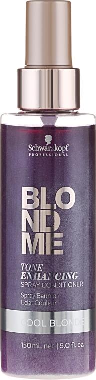 Спрей-кондиционер для холодных оттенков - Schwarzkopf Professional BlondMe Color Correction Spray Conditioner Cool Ice — фото N1