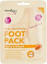 Parfumuri și produse cosmetice Mască-șosete regenerantă pentru picioare - Derma V10 Peel Foot Pack Honey & Almond Socks