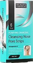 Parfumuri și produse cosmetice Полоски для глубокого очищения кожи носа - Beauty Formulas Purifying Charcoal Deep Cleansing Nose Pore