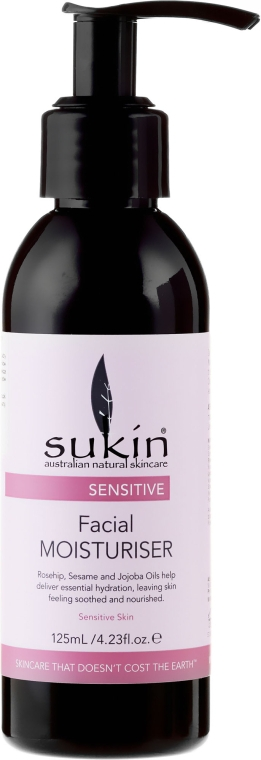 Cremă de față - Sukin Sensitive Facial Moisturiser — Imagine N1