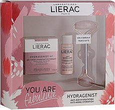 Parfumuri și produse cosmetice Set - Lierac Hydragenist (cr/50ml + f/milk/30ml + roller/1)
