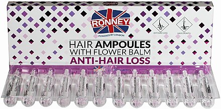 Fiole împotriva căderii părului - Ronney Professional Hair Ampoules With Flower Balm Anti-Hair Loss — Imagine N1