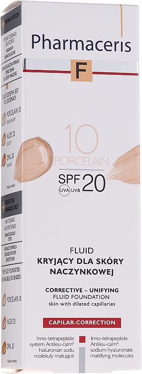 Fluid-corector de față - Pharmaceris F Capilar-Correction Fluid SPF20 — Imagine N1