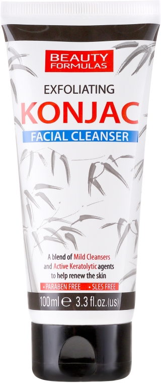 Gel pentru curățarea feței - Beauty Formulas Exfoliating Konjac Facial Cleanser