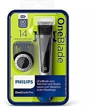Parfumuri și produse cosmetice Trimmer pentru mustață și barbă - Philips OneBlade Pro QP6520/20
