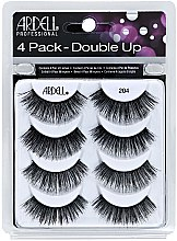 Parfumuri și produse cosmetice Set gene false - Ardell Double Up 4 Pack 204 Lashes (8 buc.)