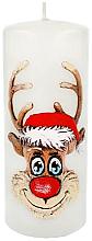"""Parfumuri și produse cosmetice Lumânare decorativă """"Rudolph"""", albă, 7x18cm - Artman Christmas Candle Rudolf"""