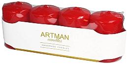Parfumuri și produse cosmetice Set lumânări decorative, mate cu roșu - Artman Candles (candle/4pcs)