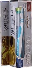 """Parfumuri și produse cosmetice Set """"Pentru iubitorii de ceai și cafea"""", perie albastră-albă - White Glo Coffee & Tea Drinkers Formula Whitening Toothpaste (toothpaste/100ml + toothbrush)"""