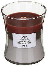 Parfumuri și produse cosmetice Lumânare parfumată în pahar - WoodWick Hourglass Trilogy Candle Forest Retreat