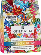 Parfumuri și produse cosmetice Set de măști naturale pentru față - Orientana Glow Natural Face Mask (f/mask/3x30ml)