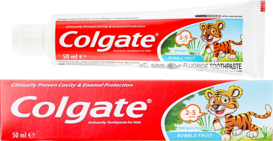 Pastă de dinți pentru copii, 2-3 ani - Colgate Toddler Bubble Fruit Anticavity Toothpaste For 2-5 Years Kids
