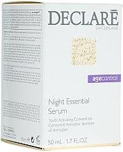 Parfumuri și produse cosmetice Ser regenerant de noapte pentru față - Declare Age Control Night Repair Essential Serum
