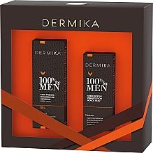Parfumuri și produse cosmetice Set - Dermika 100% For Men (f/cr/50ml + eye/cr/15ml)
