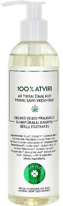 Gel de curățare cu extract natural din semințe de cânepă - Green Feel's — Imagine N1