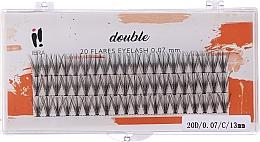 Parfumuri și produse cosmetice Gene false, C 13 mm - Ibra 20 Flares Eyelash Knot-fre Naturals